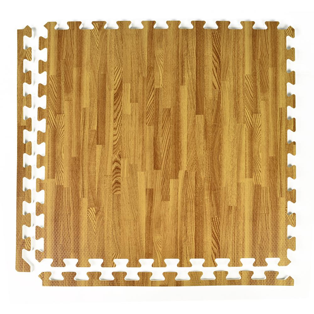 Greatmats FoamFloor Light Wood Grain Design 2 ft. x 2 ft