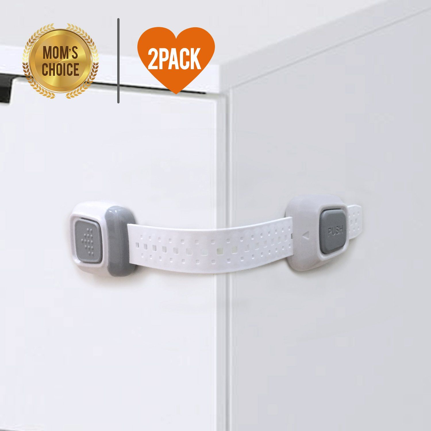 Child safety lock Baby safety lock for Cabinet Refrigerator Toilet Seat Drawers etc 3M Adhesive Included