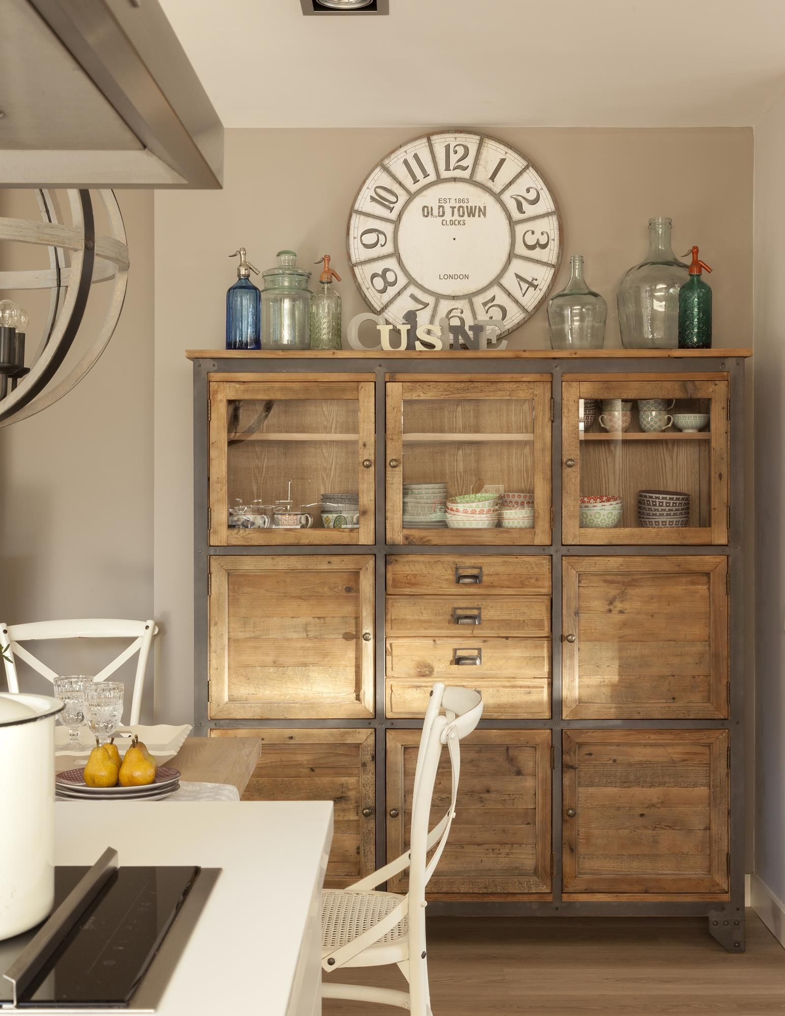 C mo hacer de tu piso urbano un interior r stico cocina muebles cocinas y decoraci n de cocina - Cocinas comedor rusticas ...