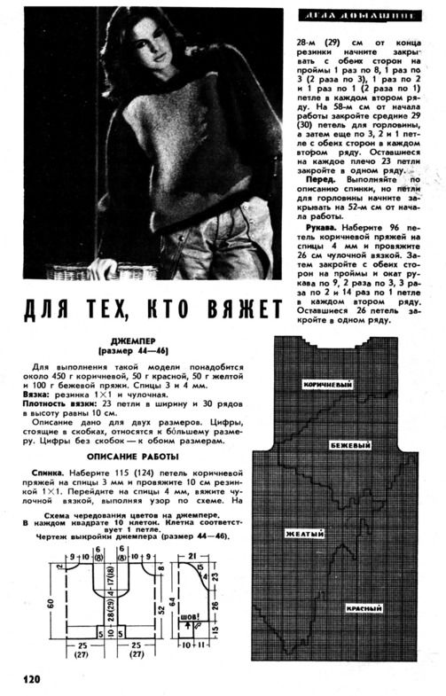 вязание из старых журналов наука и жизнь фото 25 1 спицы модели