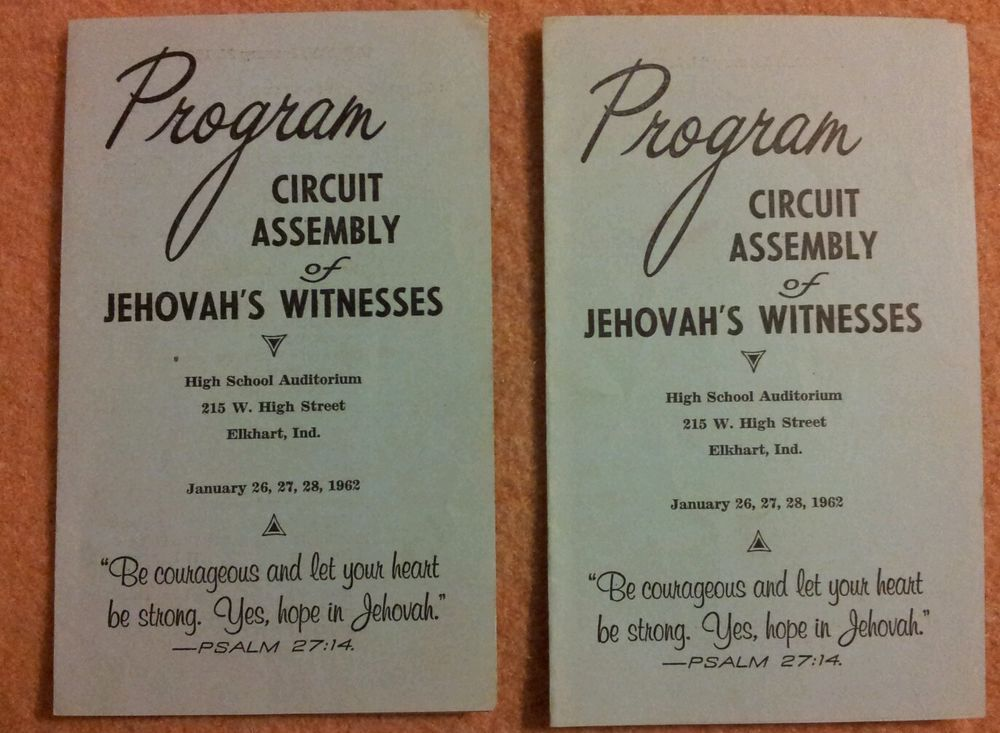 1962 Circuit Assembly Programs Watchtower Jehovah's