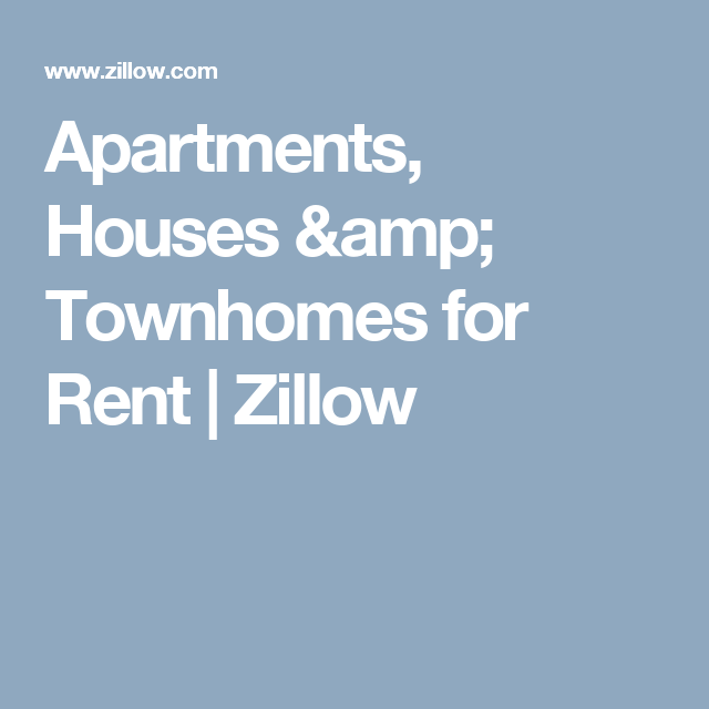 Apartments, Houses & Townhomes For Rent