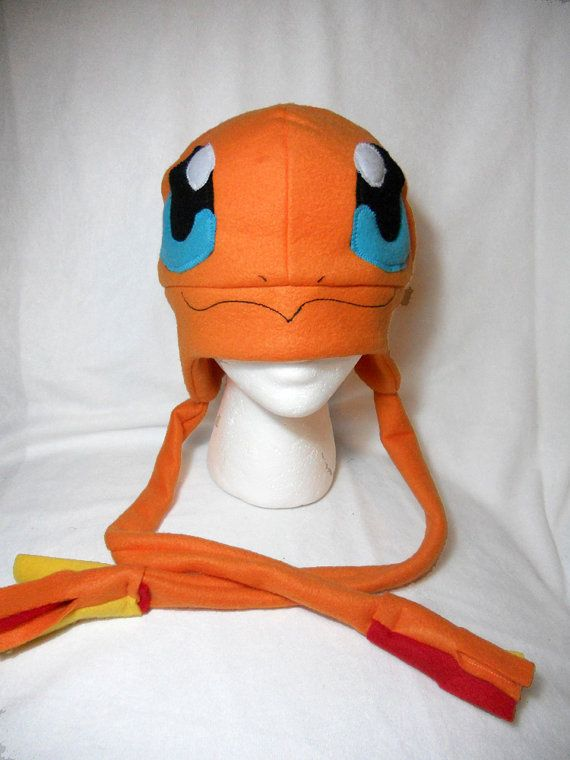 Pokemon Inspired Charmander Fleece Hat -MADE TO ORDER- | Gorros y ...