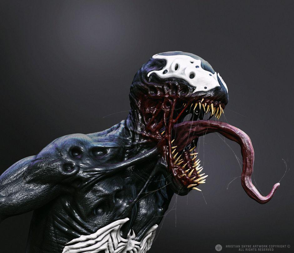 Venom Hristian Shyne Realistic 3d Cgsociety