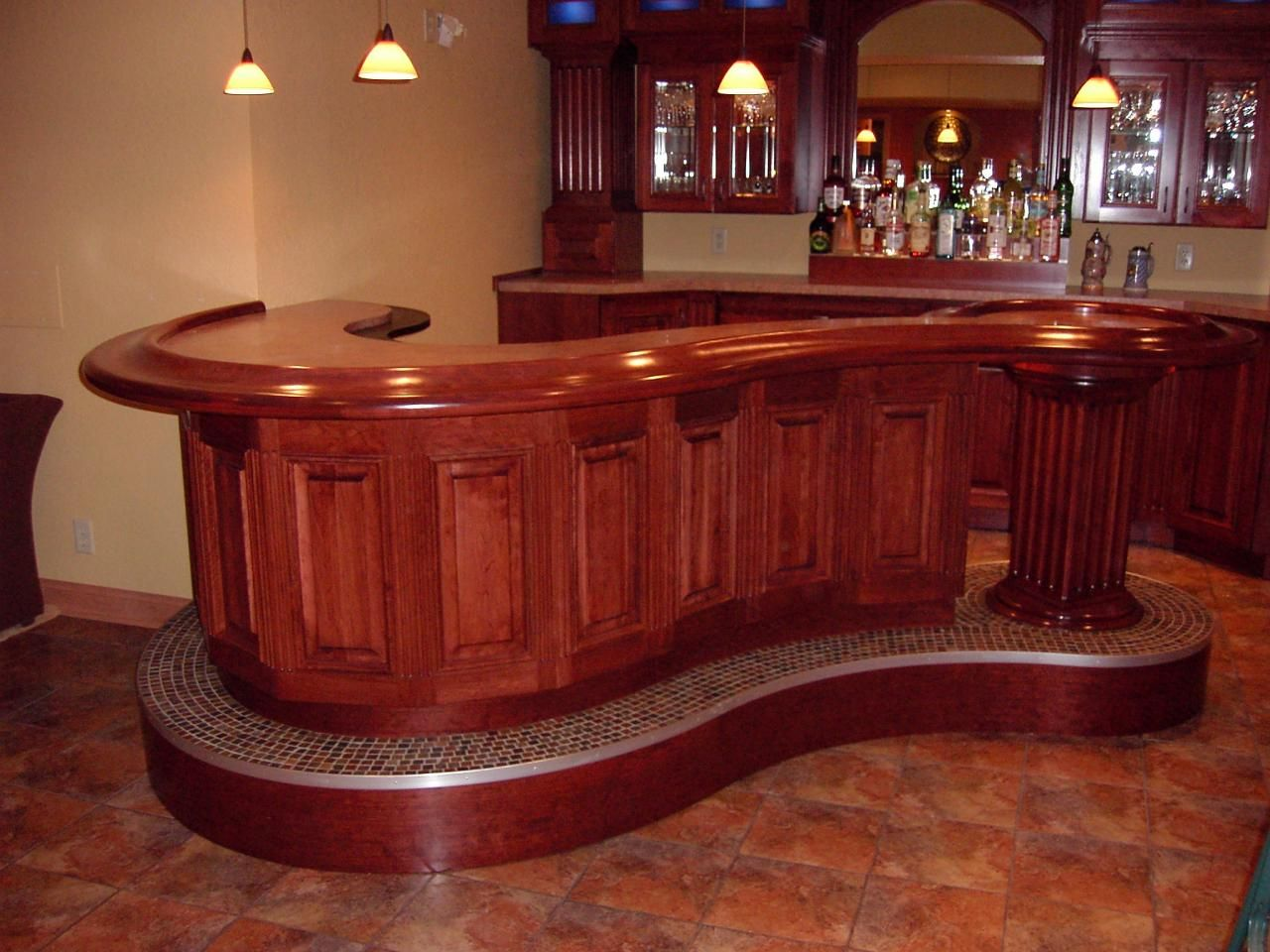 Top 10 home bars wood bars bar and woods for Wooden bar design