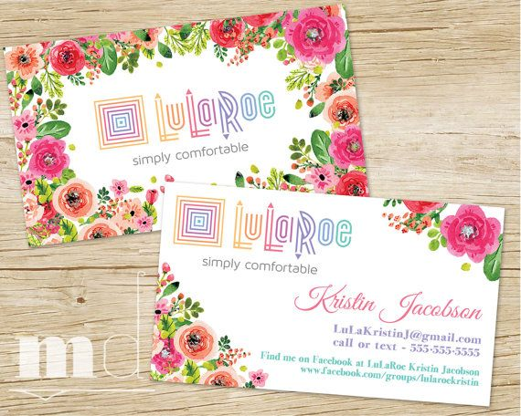 Custom Lularoe Business Cards Marketing Kit Card Fl Design By Mulligandesign Via Etsy