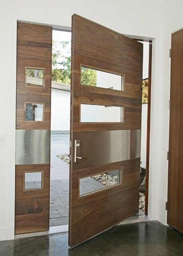 Front door idea….I would make the whole thing iron not woo…