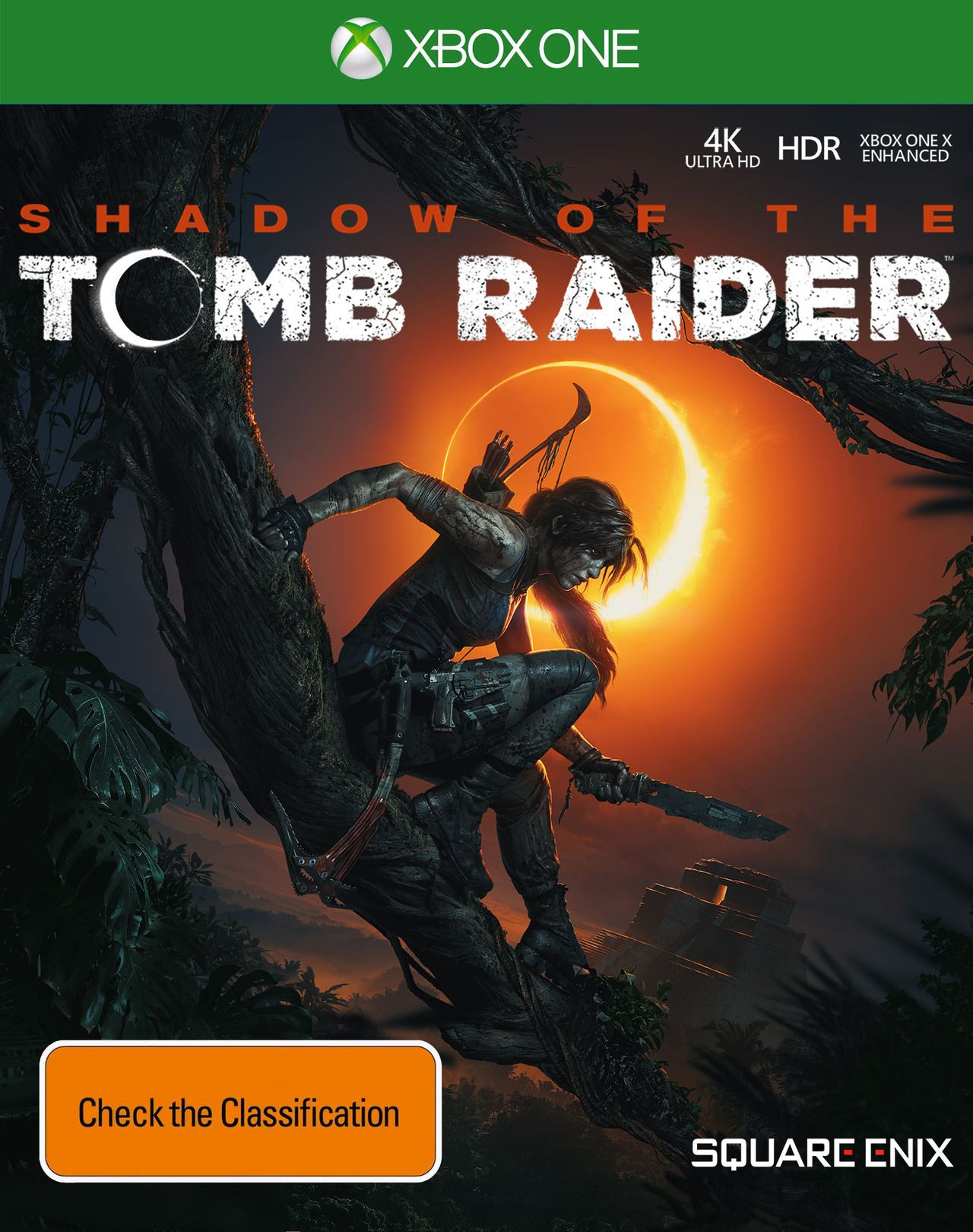 Shadow Of The Tomb Raider Xbox One X Cover Art Tomb Raider Xbox