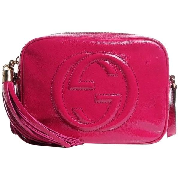 6fec4a1b47cd Pre-owned Gucci Soft Patent Small Soho Disco Fuchsia Cross Body Bag ($1,195)