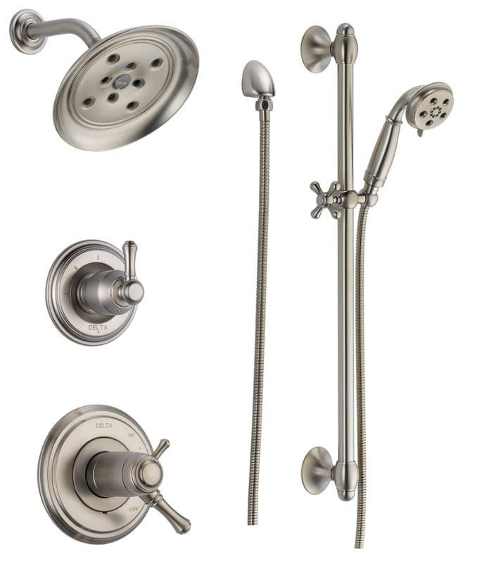 Delta DSS-Cassidy-17T01-H2O | Shower systems, Faucet and Bathroom ...