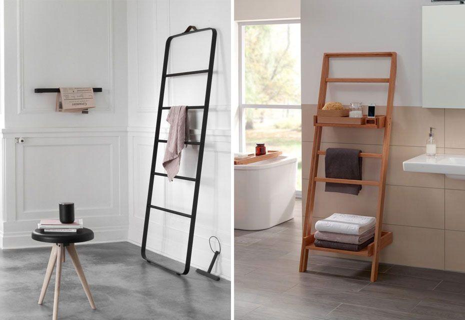 Decoratie Ladder Badkamer : Styling ideeen voor de decoratie ladder badkamer