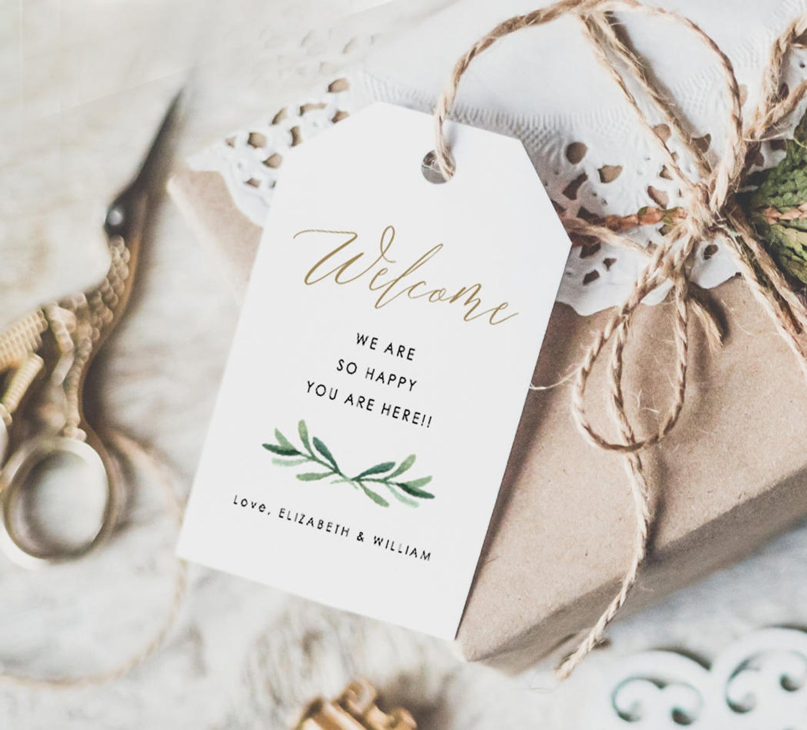 Welcome Wedding Tags, Welcome Tags, Welcome Bag Tags