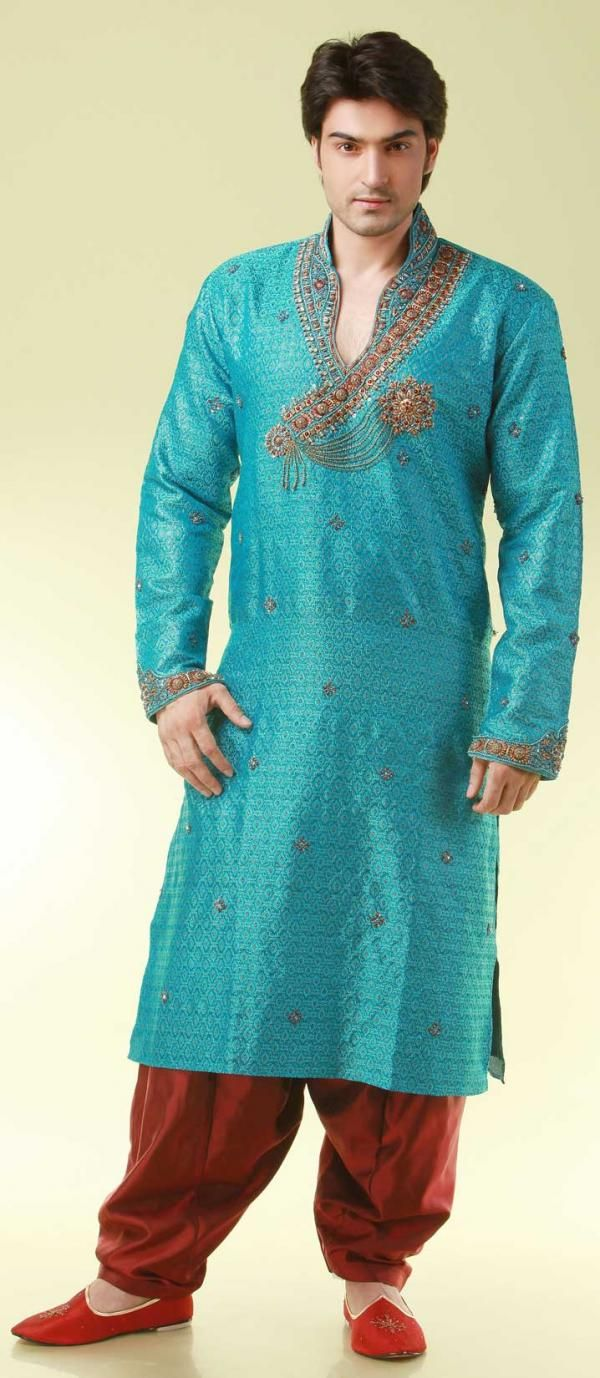 Men's Designer Kurta Pajama | For The Man | Pinterest | Faliz ...