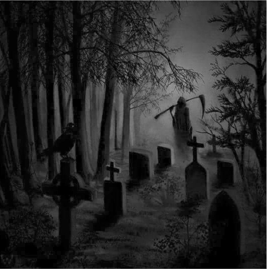 Reaper | Dark fantasy art, Cemetery art, Graveyard tattoo
