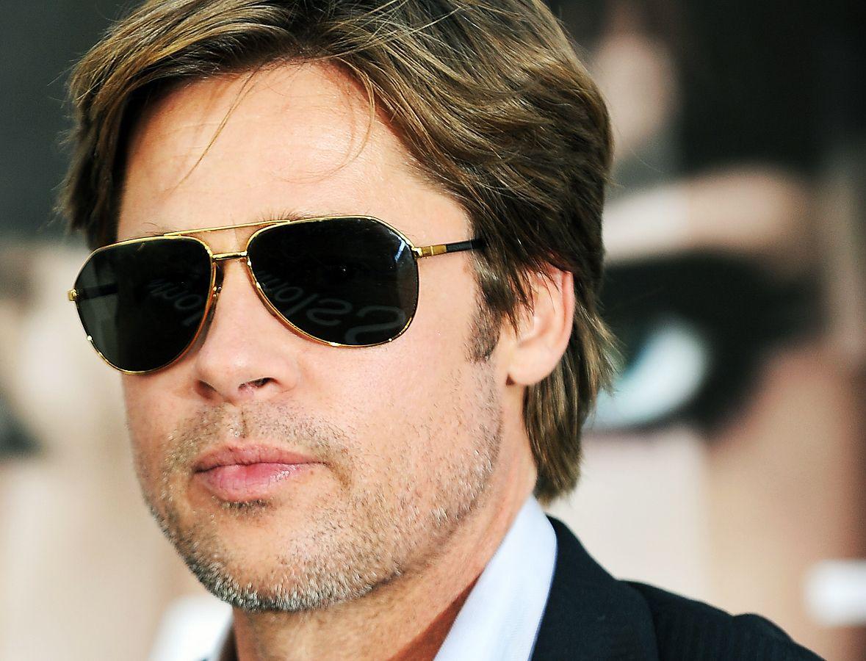 daad363ba4 Brad-Pitt-RayBan-Aviators-Sunglasses-Celebrity-Picture