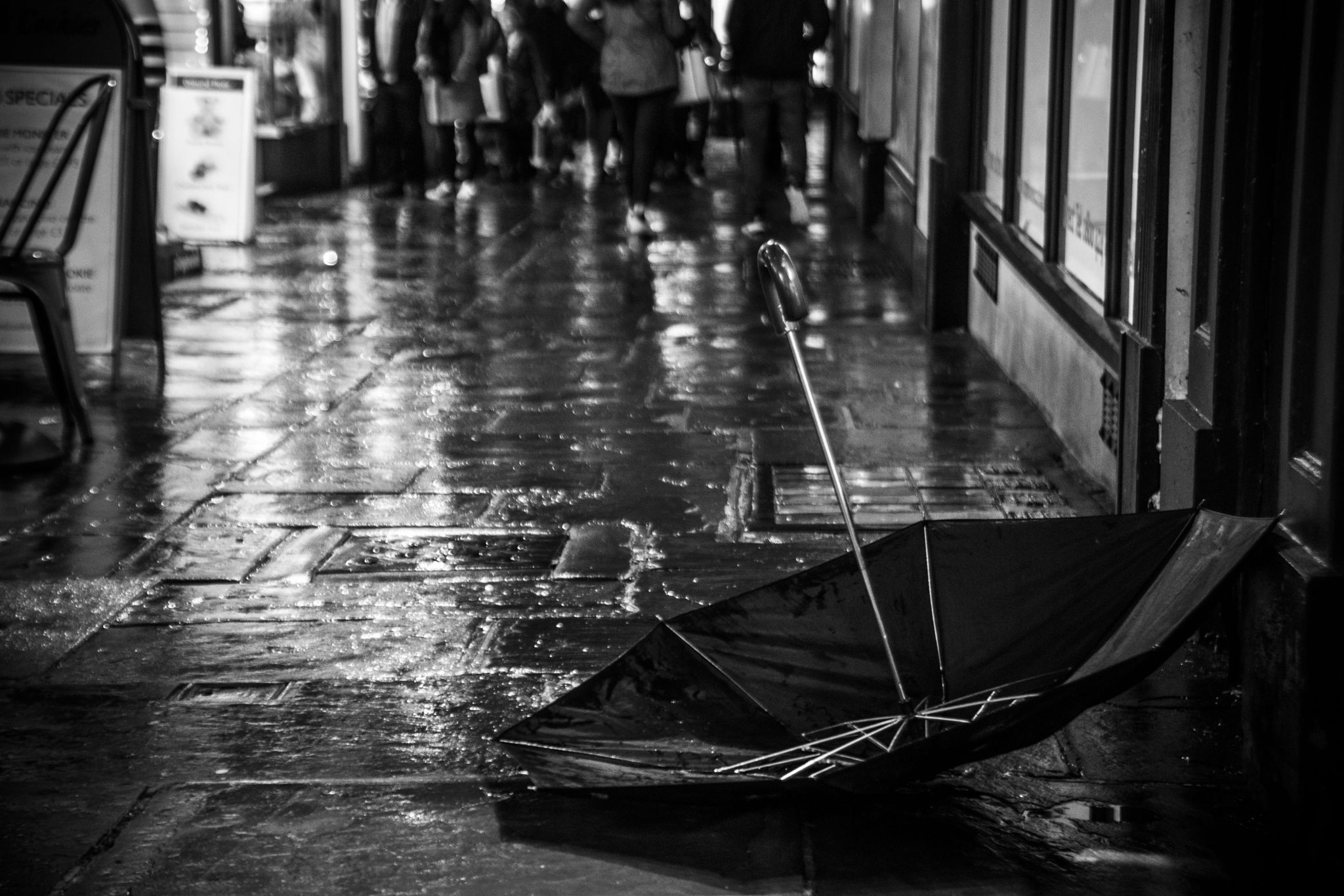 The Forgotten Umbrella - The rain passes and an umbrella lies in the middle of a…