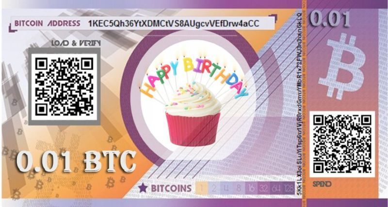 coin virtual currency virtual currency 0 01 bitcoin birthday gift