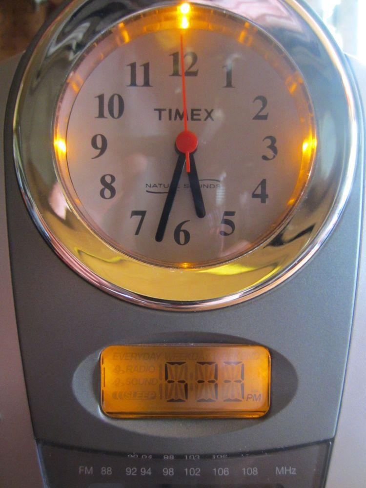 Timex Digital Analog Nature Sounds Dual Alarm Clock Radio W Backlight T318s Radio Alarm Clock Clock Alarm Clock