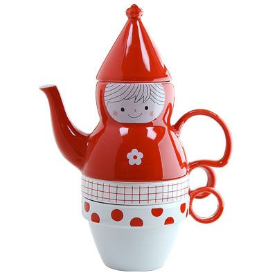 Red riding hood tea pot for two! Good for tea with otouto