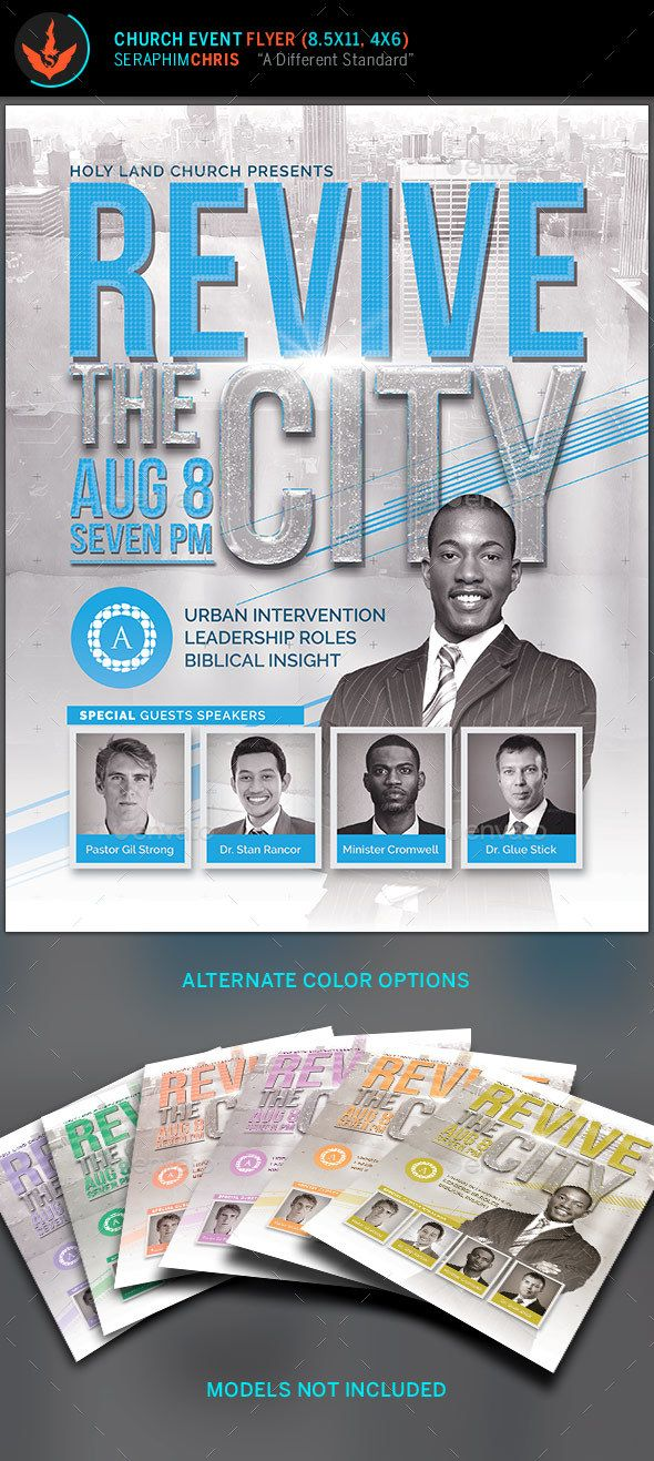 Revive the City Church Conference Flyer Template – Conference Flyer Template