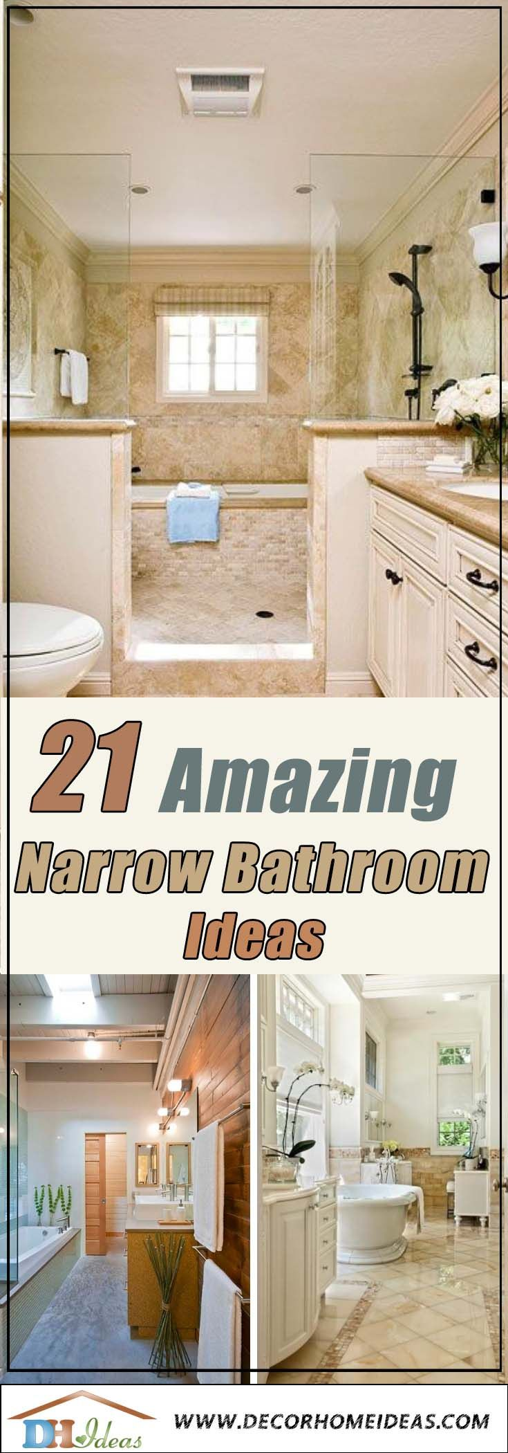21 Amazing Narrow Bathroom Ideas | Decor Home Ideas | Long ...