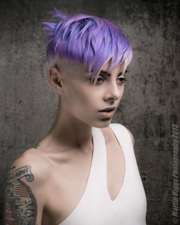 Stunning cut textured short hair lilac hair beautiful colour