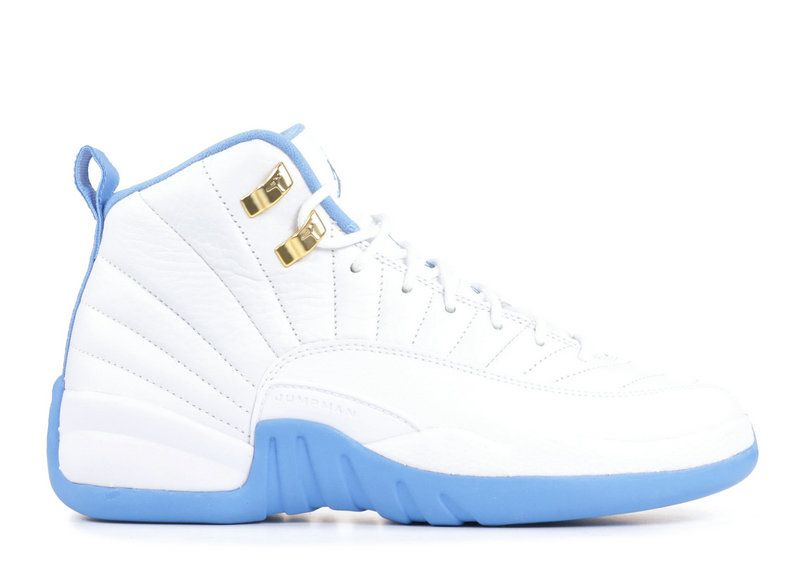 2018 Cheapest New AIR JORDAN 12 RETRO GG GS MELO white metallic  gold-university blue 510815 127 For Sale 5b8089a10