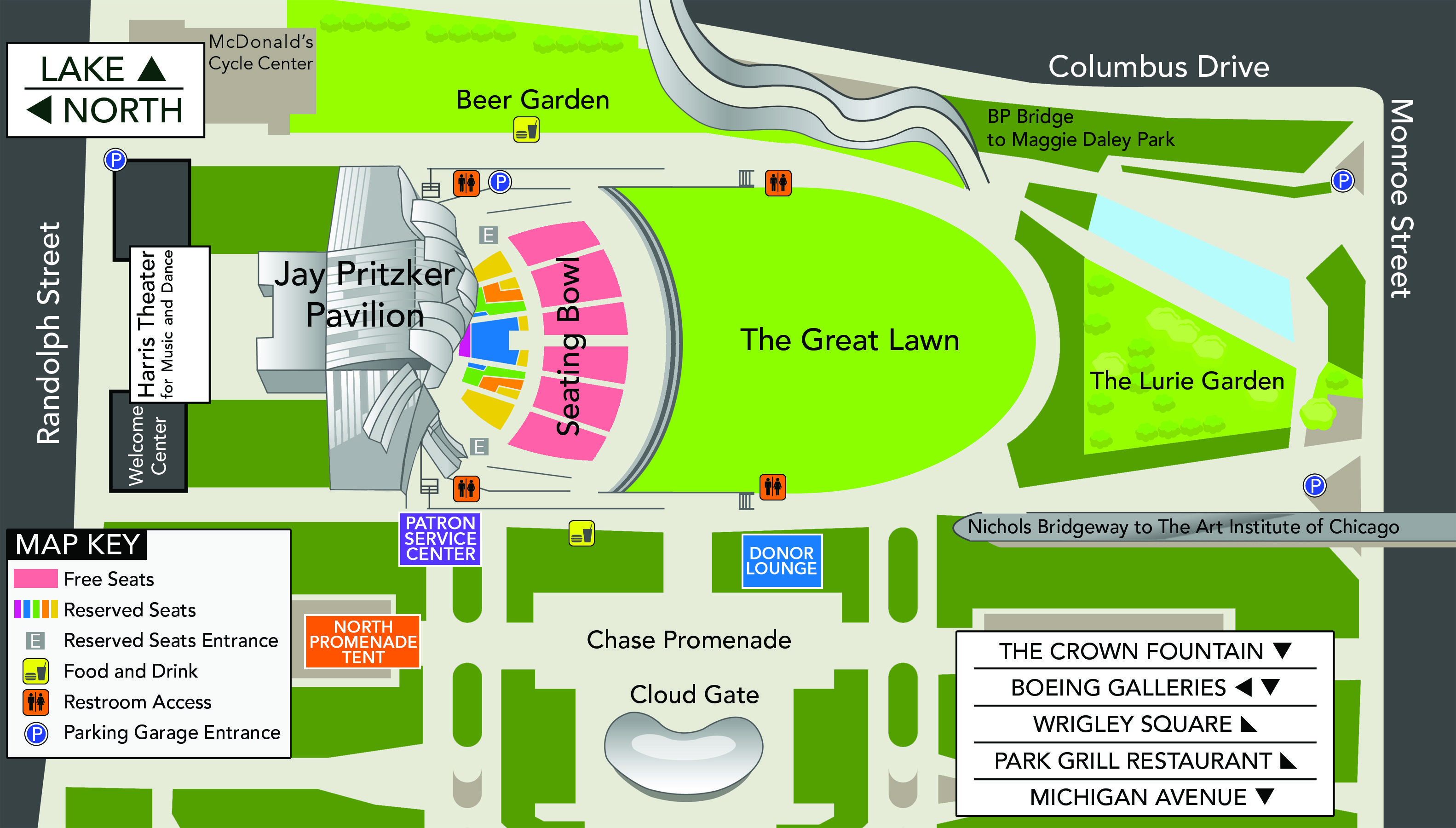 Map Of Millennium Park Plan Your Experience The Grant Park Music Festival Chicago Vacation Millennium Park Chicago Map