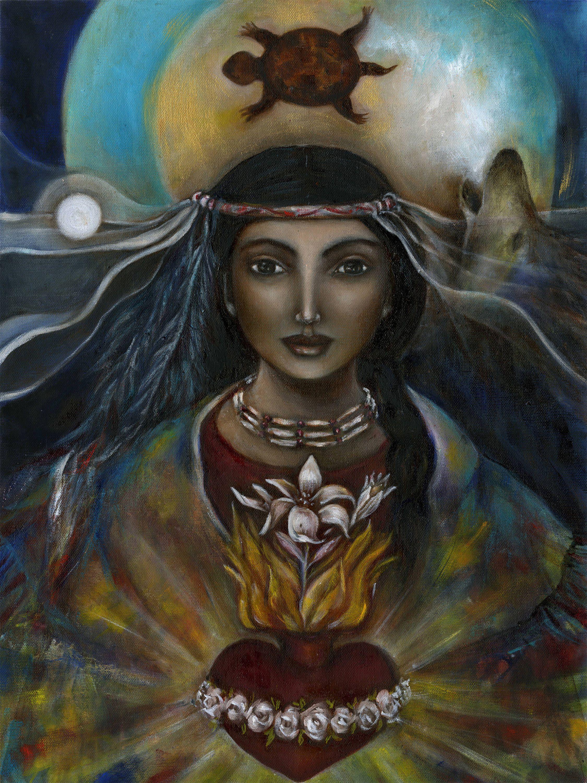 Kateri Tekakwitha Art on Canvas Native American Healer | Etsy | Sacred feminine, Goddess art, Divine feminine