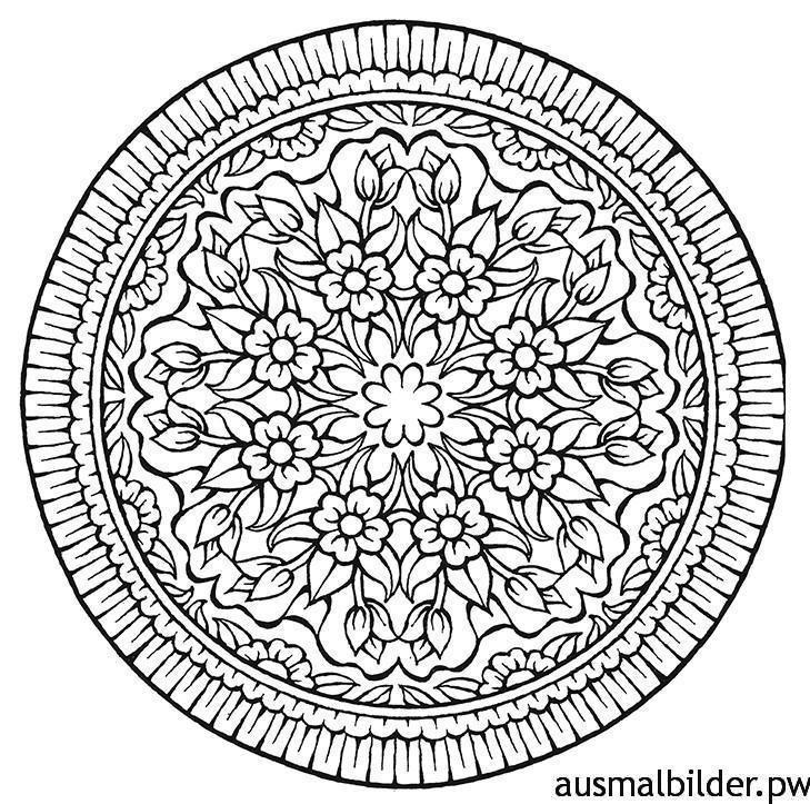 ausmalbilder mandala für erwachsene 03 | Color | Pinterest | Mandala ...