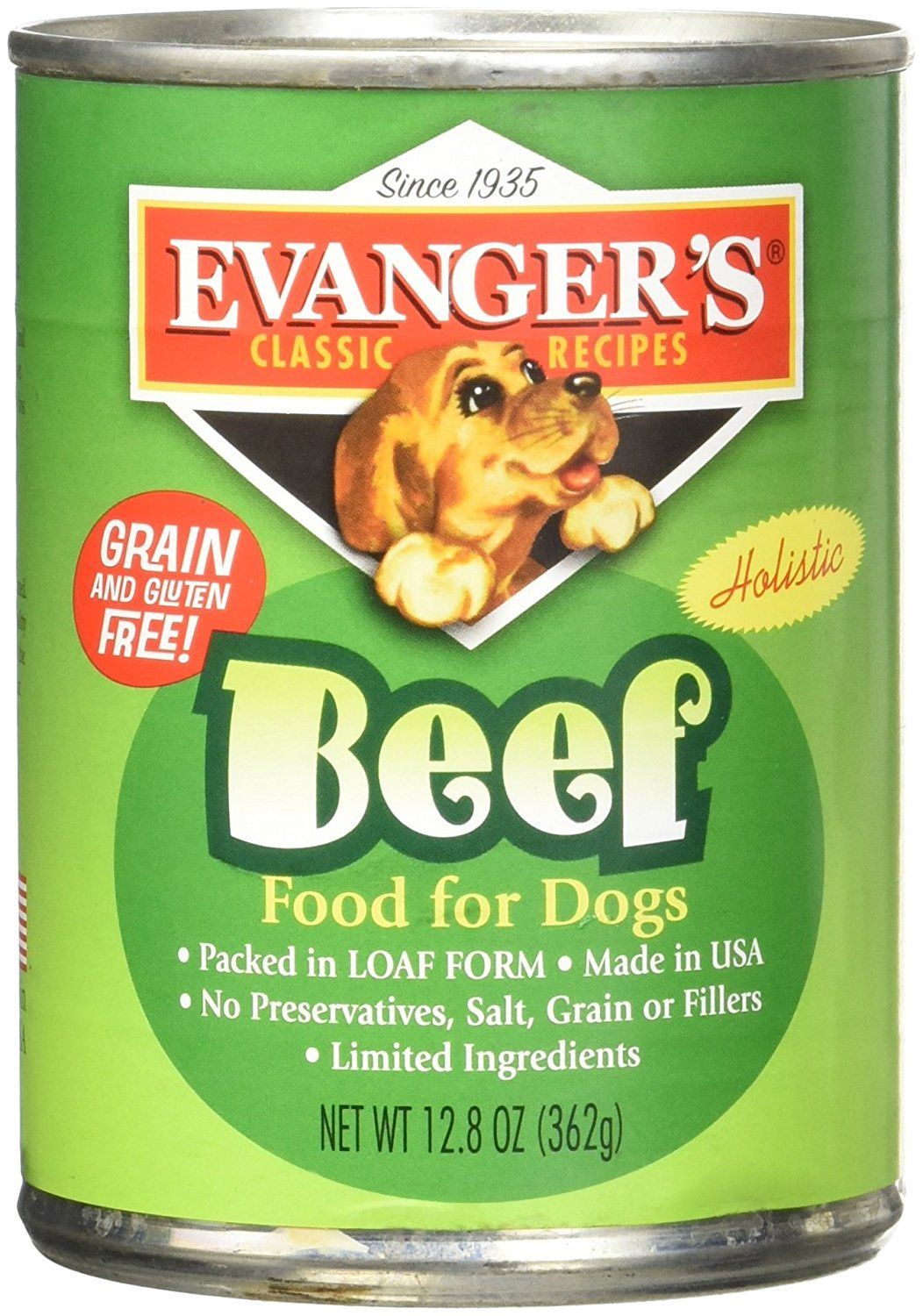 Evangers all natural classic beef canned dog food 128