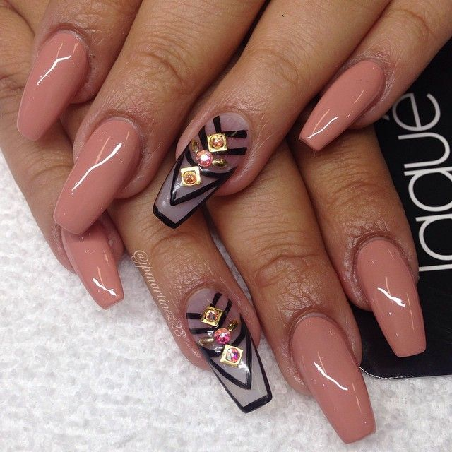 Pin by susan r on nail design pinterest nail nail avon and nude neutral nails with black and clear accent nail designs prinsesfo Images