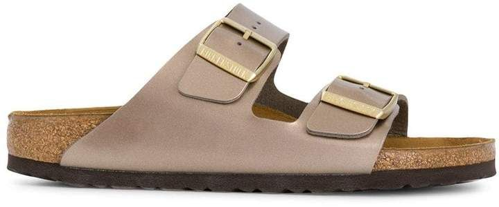 Buckle sandals, Birkenstock, Nike shoes