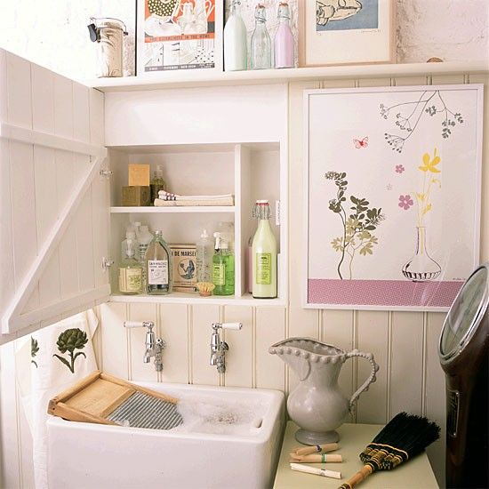 Pretty pink wash room | Luxe Laundry - 10 decorating ideas ...