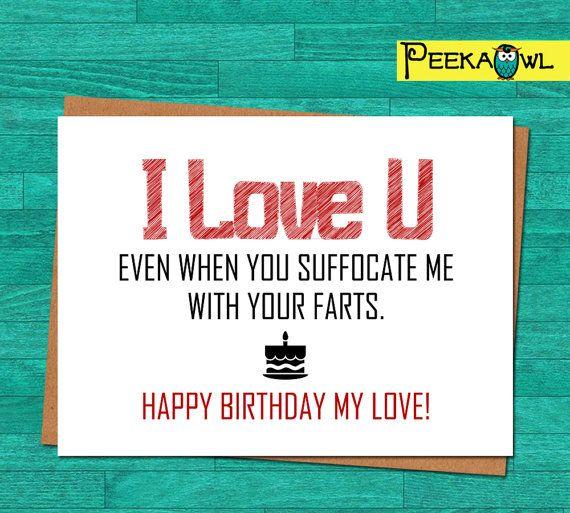 Instant Download Funny Birthday Card Boyfriend By PeekaOwl
