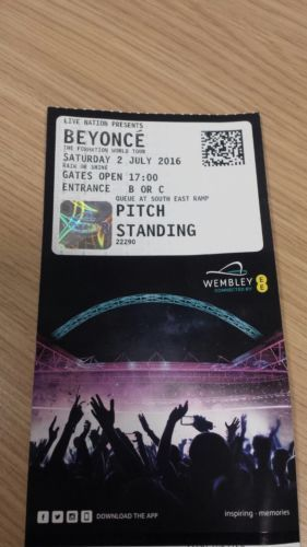 #Beyoncé formation tour #ticket 2nd july2016 @ wembley london #quantity-1,  View more on the LINK: 	http://www.zeppy.io/product/gb/2/152136312403/
