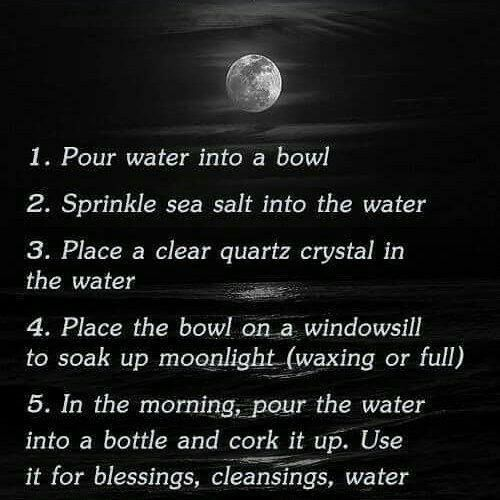 Cleansing/Clearing an object  To purify and remove negative energy