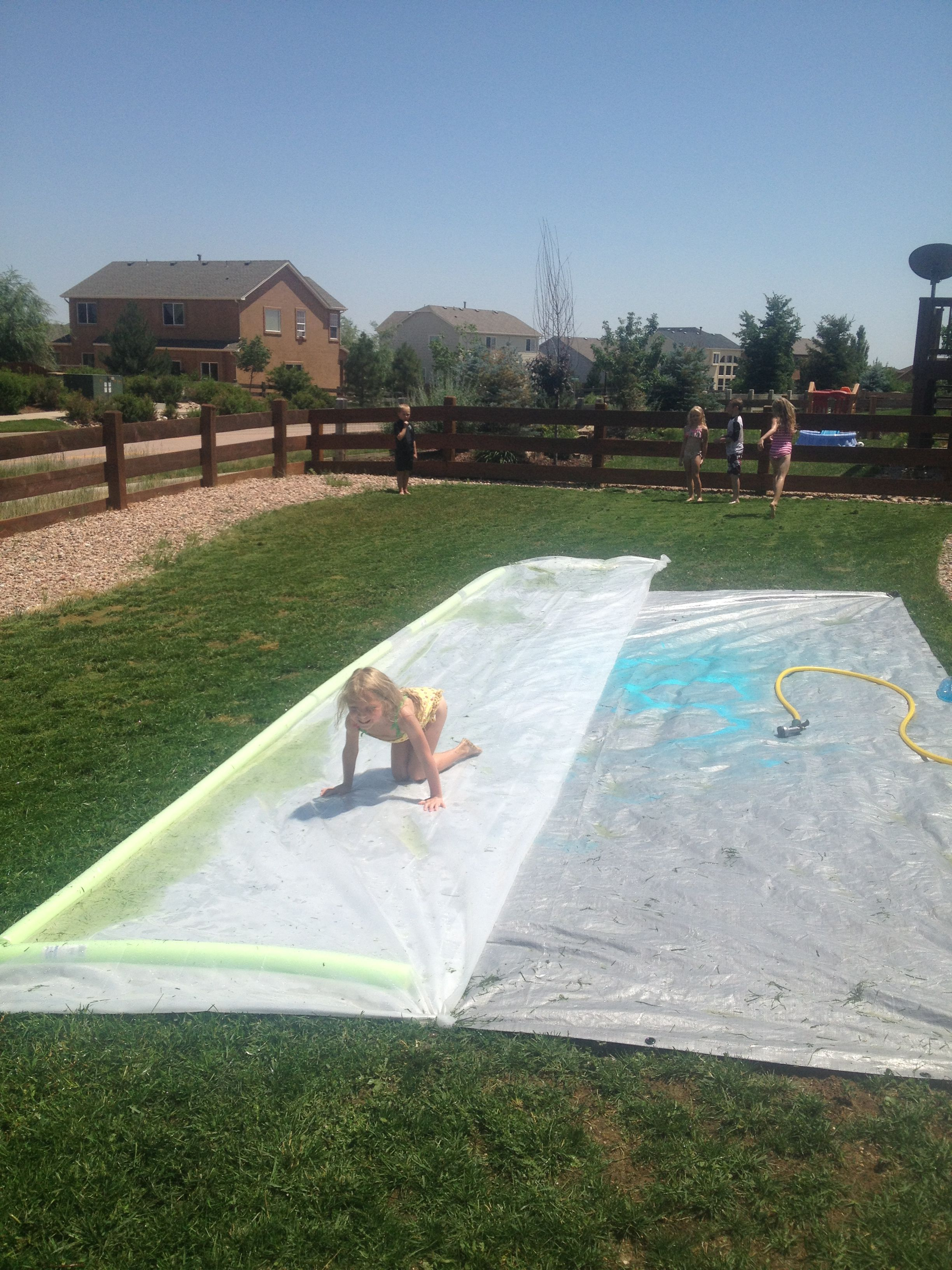 Slip N Slide Bought Plastic Sheeting