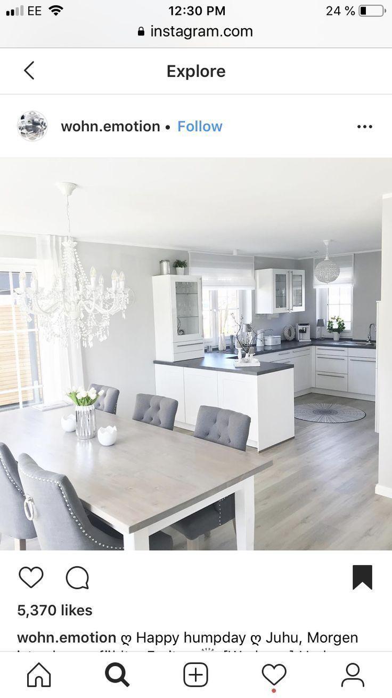 Salon z kuchnia idée déco intérieur maison - Decoration #maison