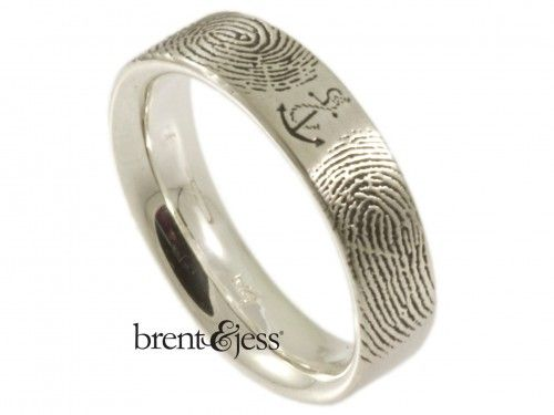 You Are My Anchor Fingerprint Wedding Ring By Brent Jess Custom