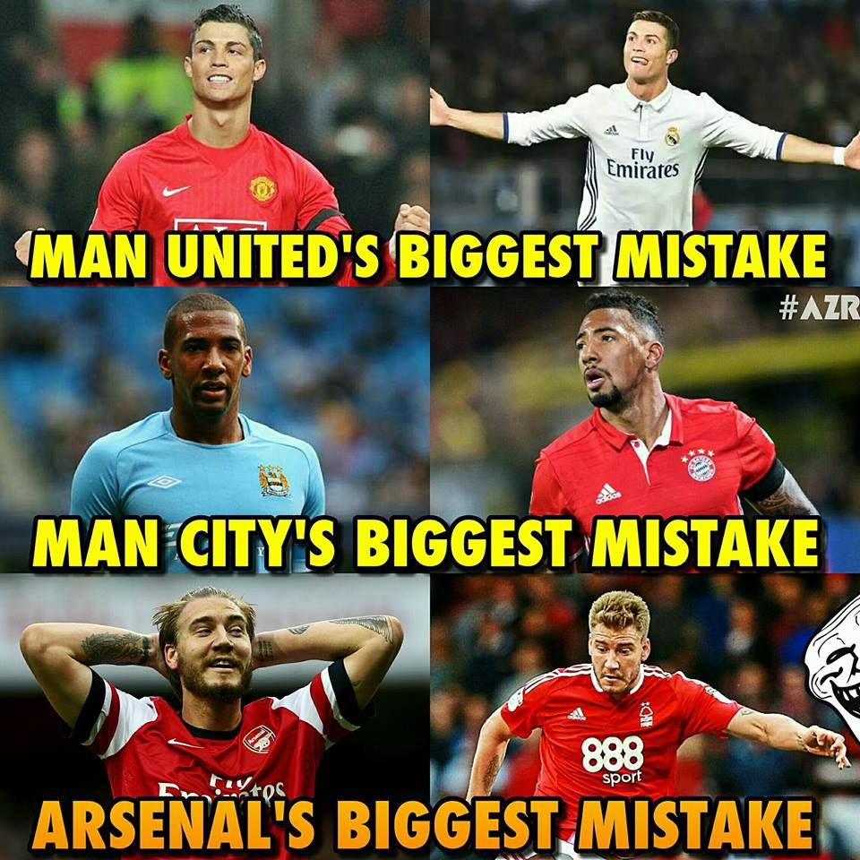 These Clubs Did A Big Mistake By Selling Their Star Player Funny Football Memes Funny Soccer Memes Football Jokes