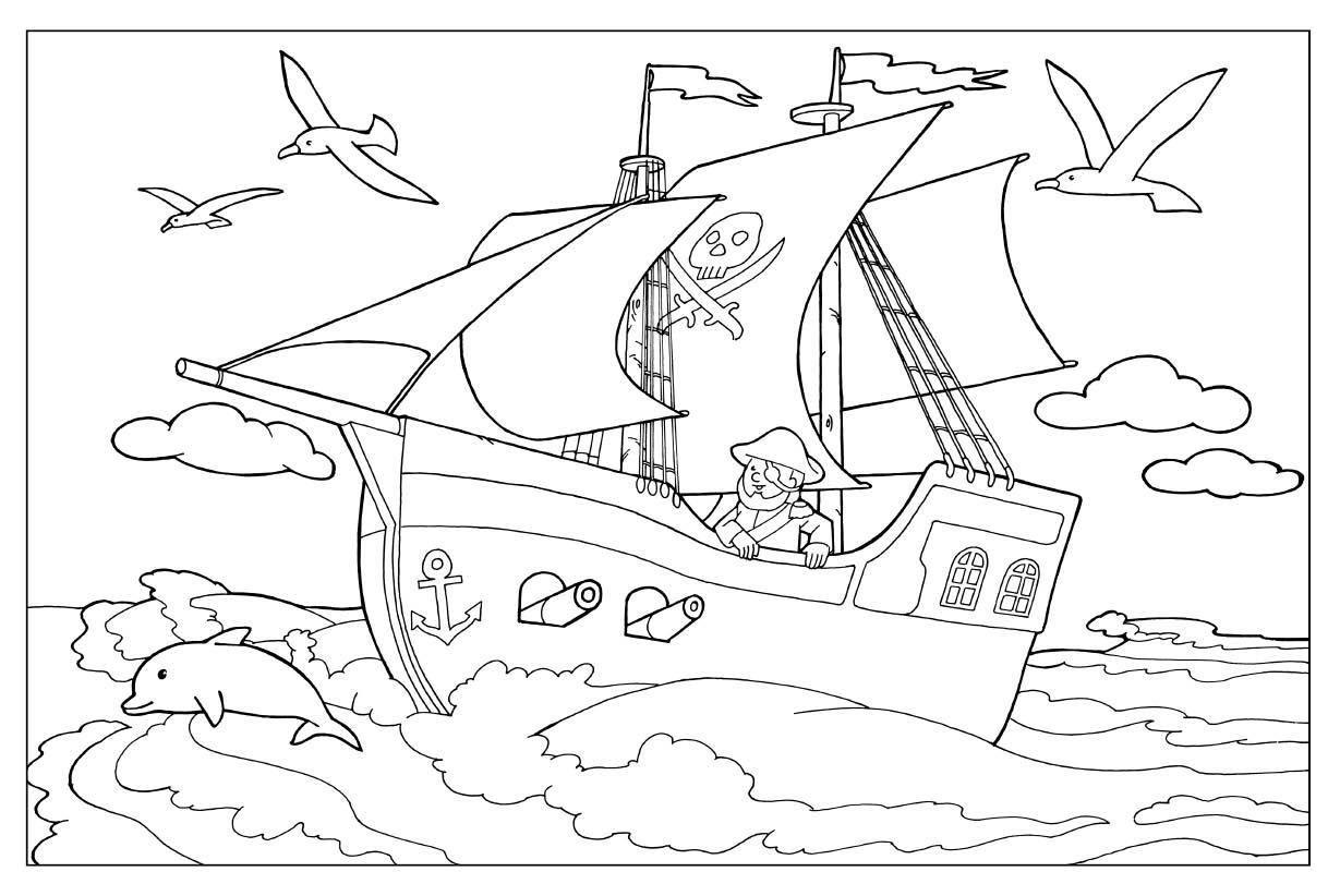 Kleurplaat Piraten Free Printable Kleurplaten Piraten Piratenschip