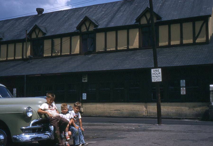 Central Market parking lot 1957