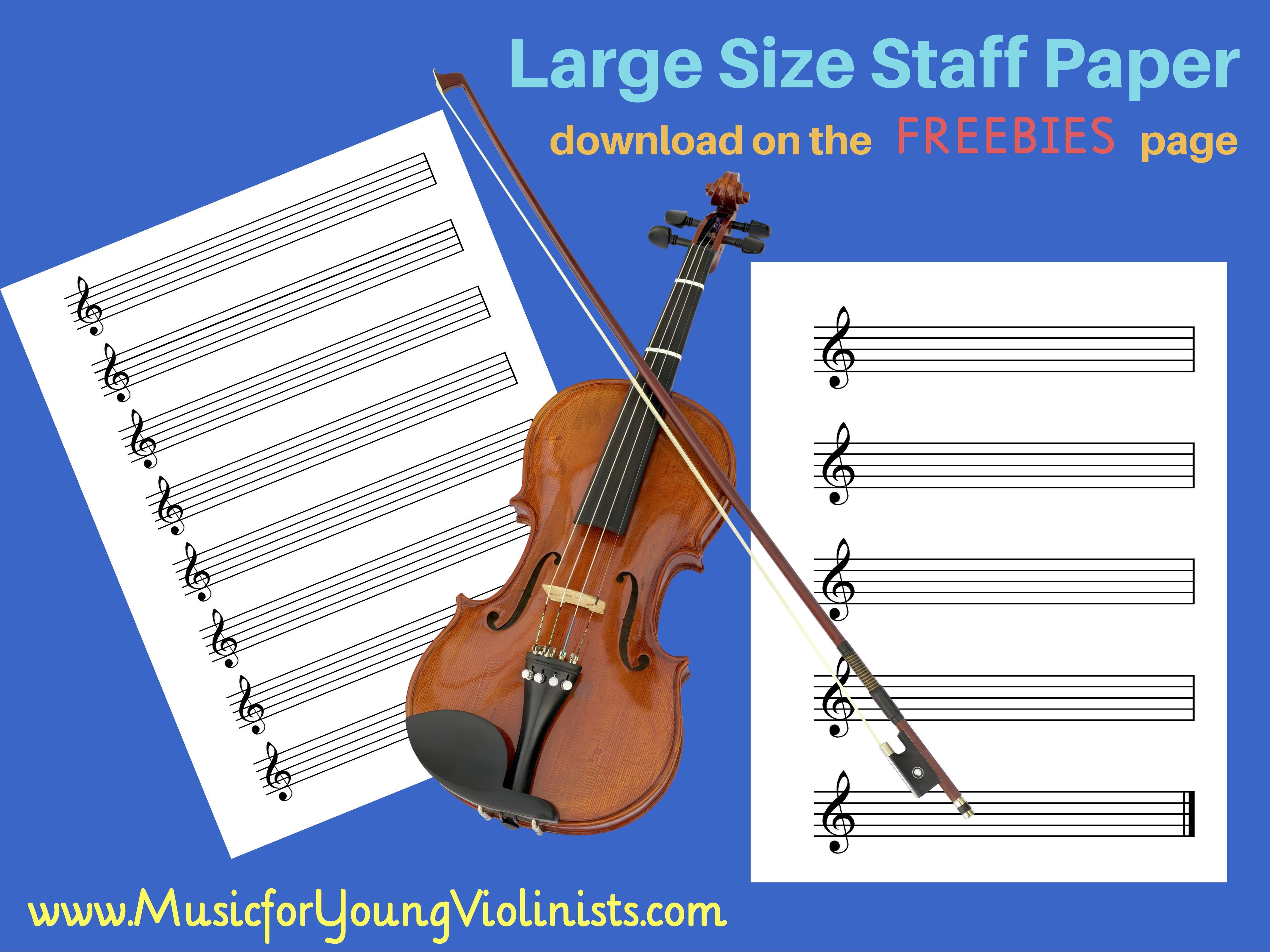 FREE Staff Paper ( + More!!!) Free violin sheet music