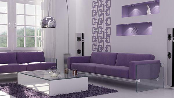 Luxury Purple Decor for Living Room