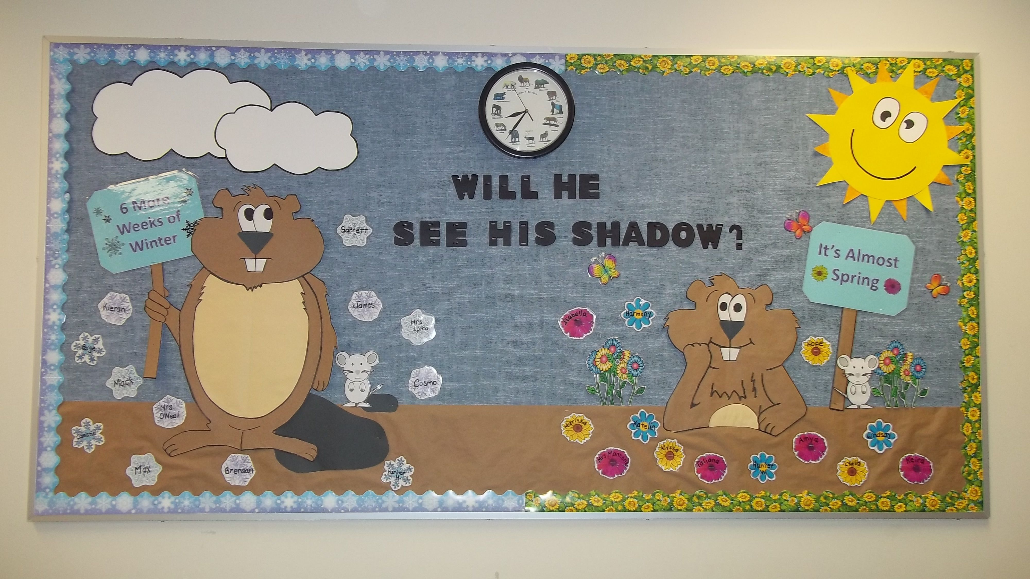Ground Hog S Day Bulletin Board Classroom Bulletin Boards Groundhog Day School Projects [ 2248 x 4000 Pixel ]