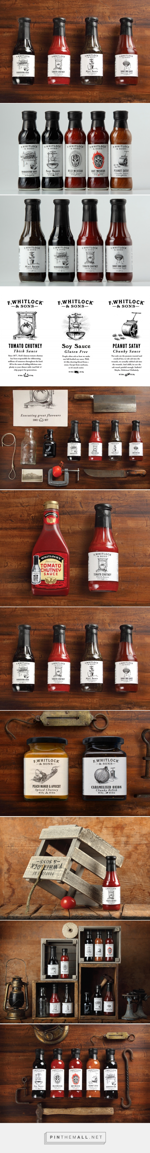 New Packaging for F. Whitlock & Sons by Marx Design - BP&O - created via http://pinthemall.net