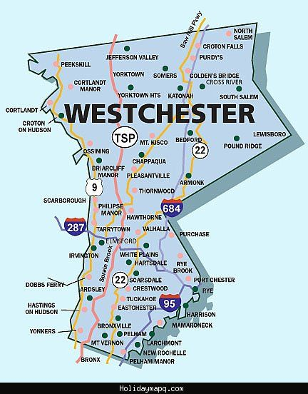 Map Of 287 New York.Awesome Map Of Westchester Holidaymapq Westchester County New