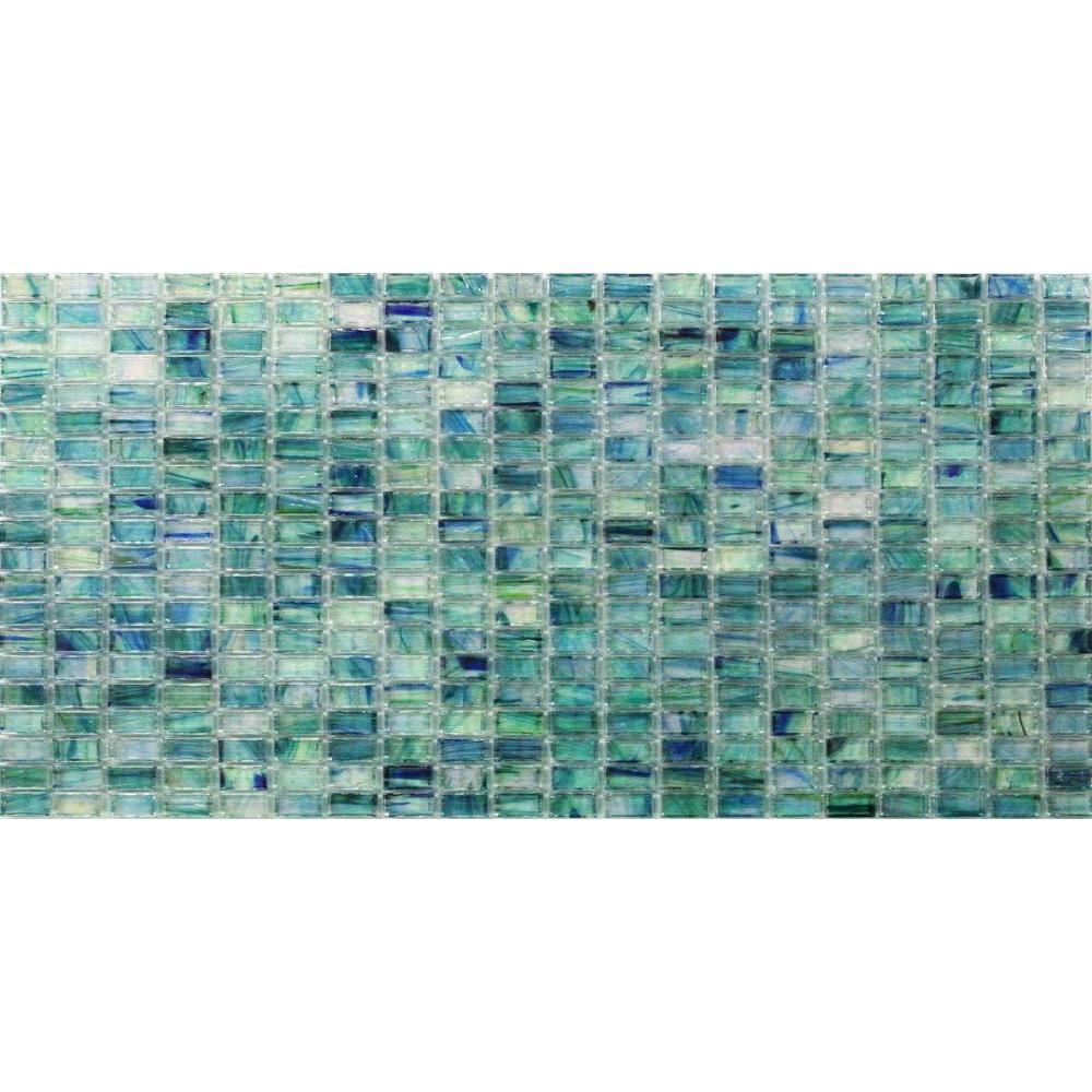Splashback Tile Breeze Caribbean Ocean Stained Glass Mosaic Floor ...