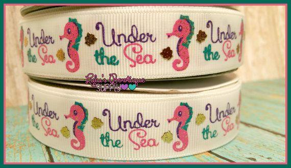 Under The Sea US Designer 7/8 Grosgrain by LulusBowtiqueSupply